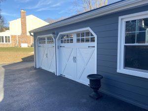 garage driveway after